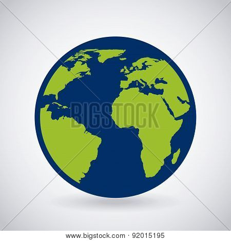 Earth design over gray background vector illustration