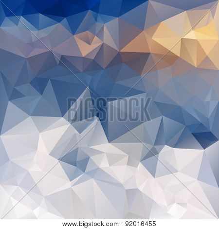 Vector Polygonal Background - Triangular Design In Winter Mount