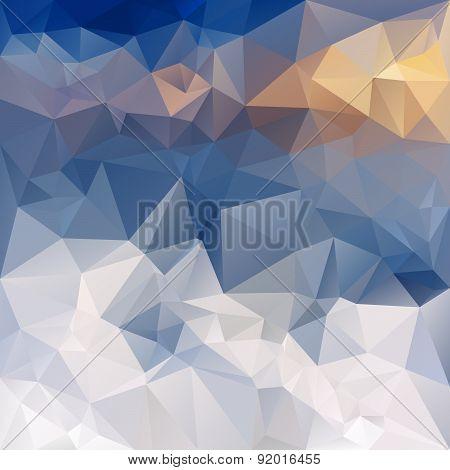 Vector Polygonal Background - Triangular Design In Winter Mount