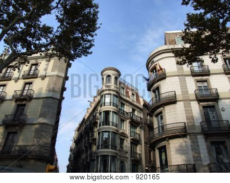 Unusual Building In Barcelona Centre