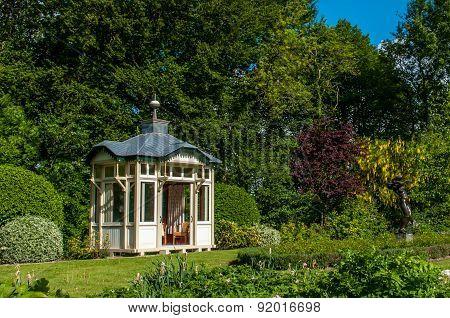 Arbor In A Mansion Garden