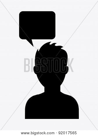 People design over white background vector illustration