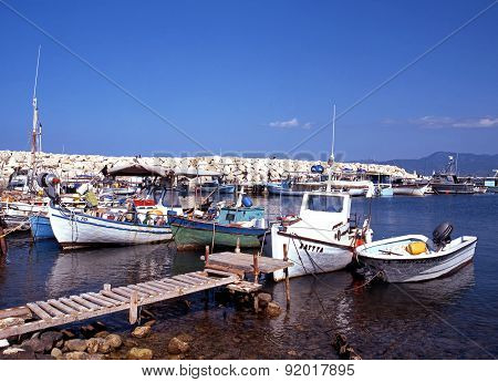 Latchi fishing harbour, Cyprus.