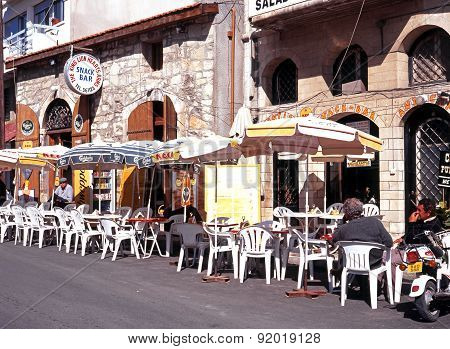 Pavement cafe, Limassol.