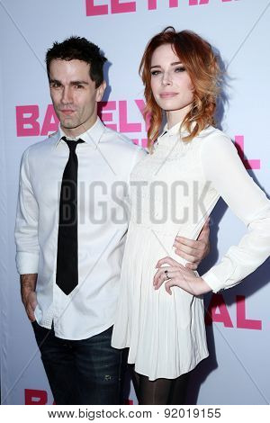 LOS ANGELES - MAY 27:  Samuel Witwer, Chloe Dykstra at the