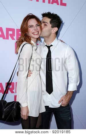 LOS ANGELES - MAY 27:  Chloe Dykstra, Samuel Witwer at the