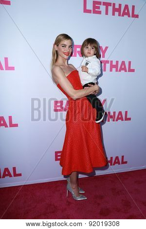 LOS ANGELES - MAY 27:  Jaime King, James Knight Newman at the