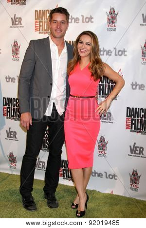 LOS ANGELES - MAY 28:  Justin Hartley, Chrishell Stause at the Dances With Films 2015 Opening Night Film