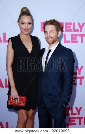 LOS ANGELES - MAY 27:  Clare Grant, Seth Green at the
