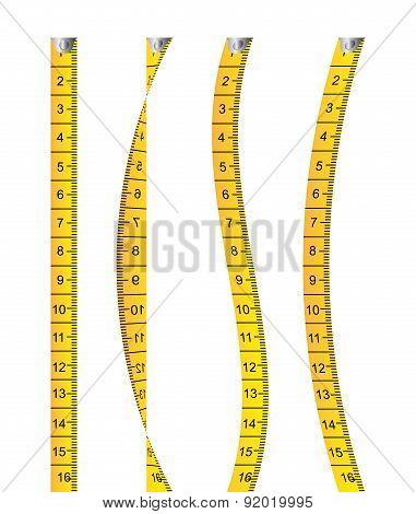 Measure design over white background vector illustration