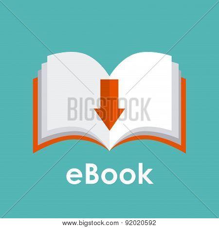 eBook design over blue background vector illustration