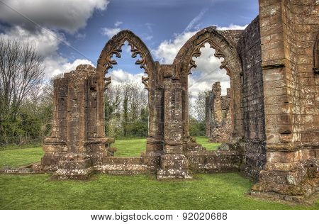 Lincluden Collegiate Church - South Side Arches Hdr