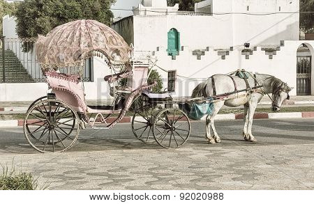 Vintage horsedrawn carriage.