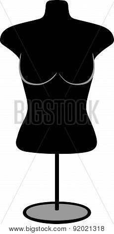 Woman mannequin torso with Stand