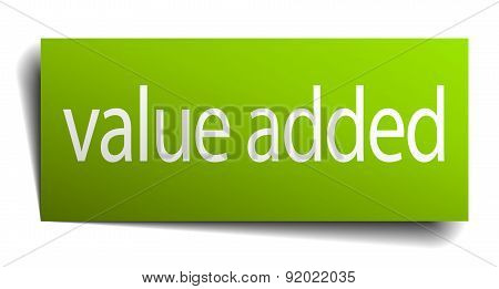 Value Added Square Paper Sign Isolated On White