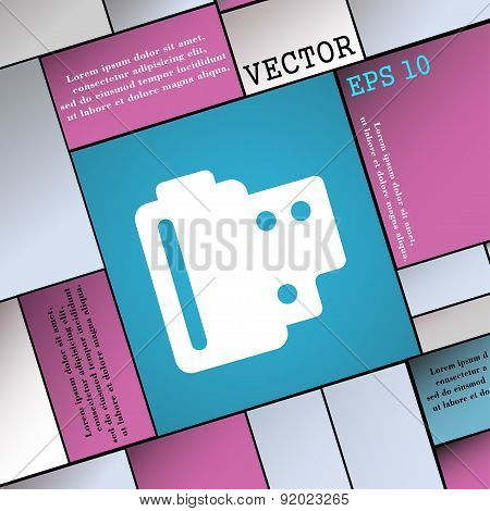 35 Mm Negative Films Icon Sign. Modern Flat Style For Your Design. Vector