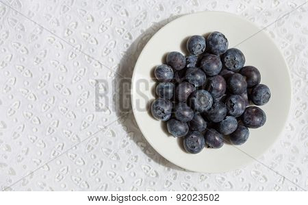 Bilberry On The Lace Background