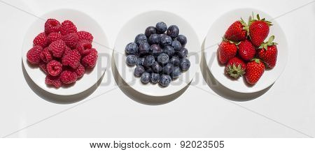 Different Friuts On The Plates