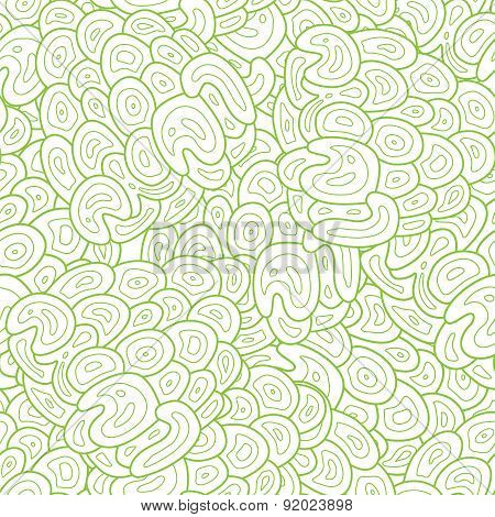 Vector Green Abstract Seaweed texture seamless pattern
