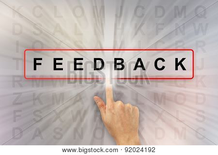 Hand Clicking Feedback Word