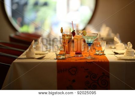 restaurant with cocktails