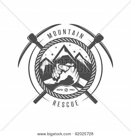 Mountain rescue emblem in high resolution.