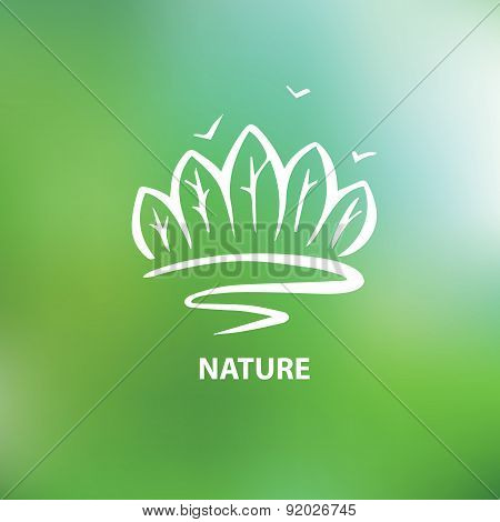 Logo with the image of trees and forests.