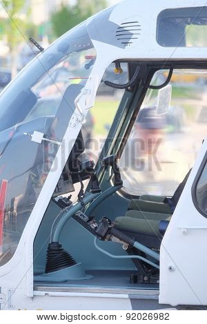 The image of a helicopter cockpit
