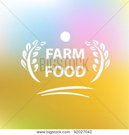 Vector logo for farming