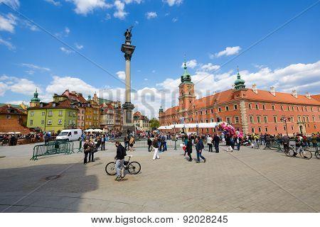 Sigismund's Column In Warsaw In Poland