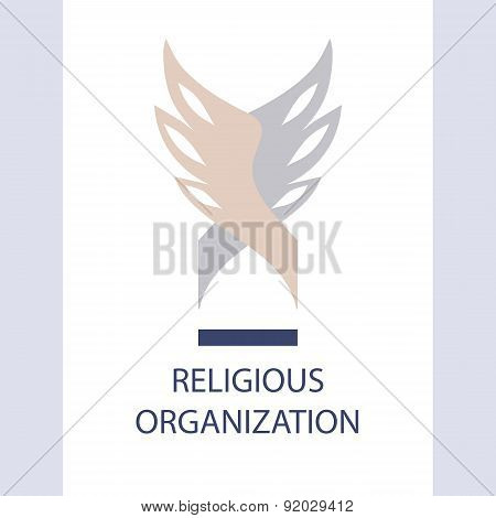 Vector logo religious organization of society