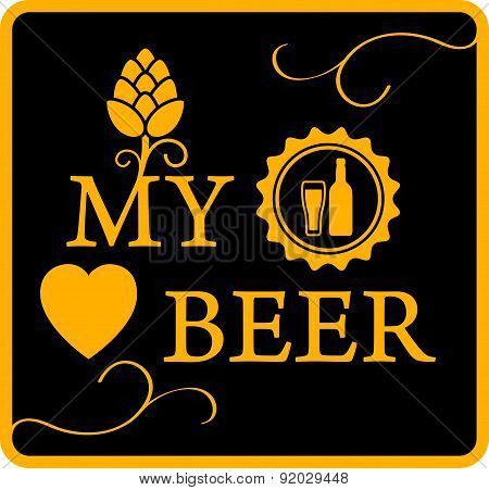 my love beer icon