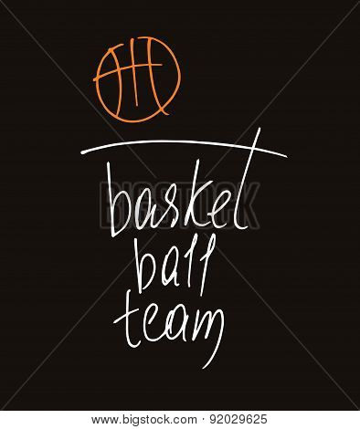 Template vector logo for the championship in basketball. The bal