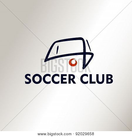 Template vector logo Football Soccer Club.
