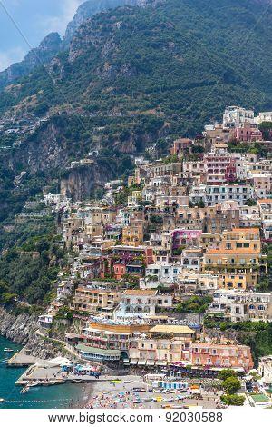 Cityscape  Of Positano
