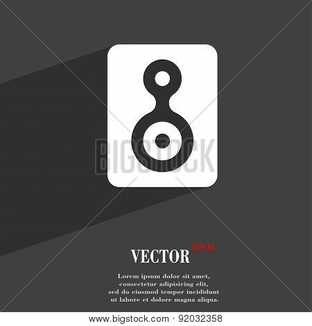 Video Tape Icon Symbol Flat Modern Web Design With Long Shadow And Space For Your Text. Vector