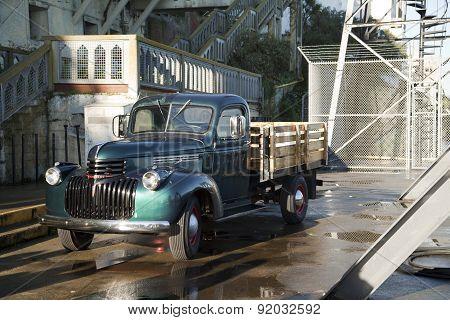 Vintage truck on Alcatraz Island