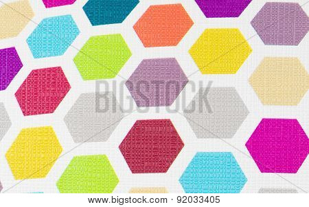 Colorful Hexagon Background Texture