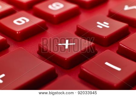 Red Calculator Keyboard