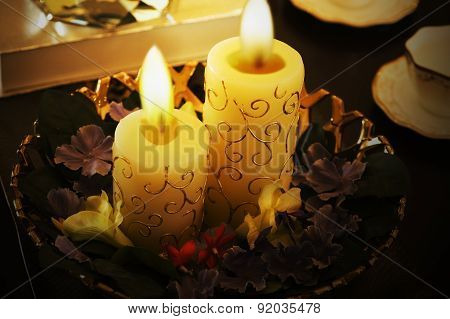 Craft candle decoration