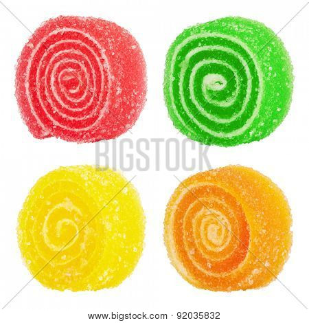 Sweet colorful candy isolated on white background