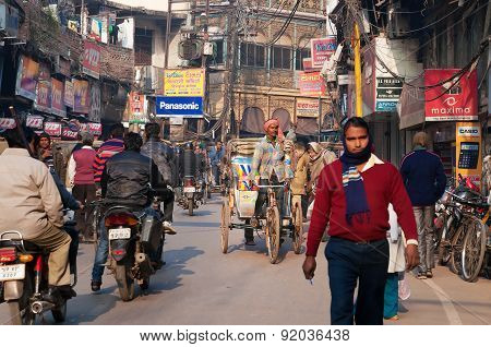 On The Street In Varanasi