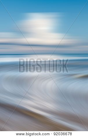 Blurred Sea Background.