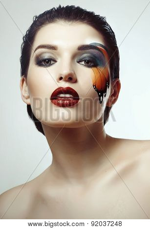 Perfect Makeup With Butterfly