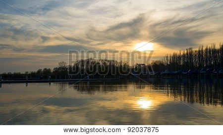 Strange Sunset Over Balaton