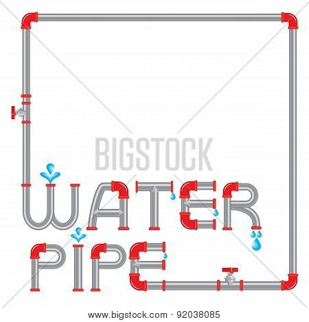 Abstract Pipeline Frame With Decorative Letters