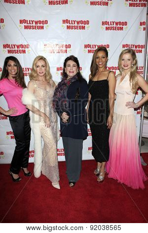 LOS ANGELES - MAY 27: Lindsay Hartley, Donna Mills, Donelle Dadigan, Chrystee Pharris, Crystal Hunt at the Marilyn Monroe Missing Moments at the Hollywood Museum on May 27, 2015 in Los Angeles, CA