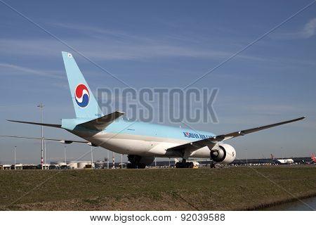 Baby blue cargo plane.