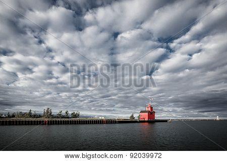 Holland Lighthouse - Big Red