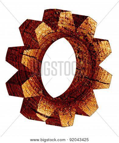 Cogwheel isolated on white background